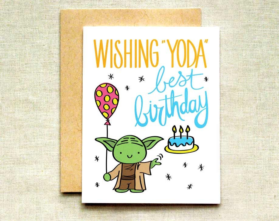 It is a graphic of Crafty Star Wars Printable Birthday Cards
