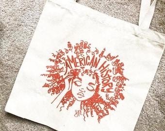 American History Tote Bag, Feminist Tote Bag, Black History, Women's History