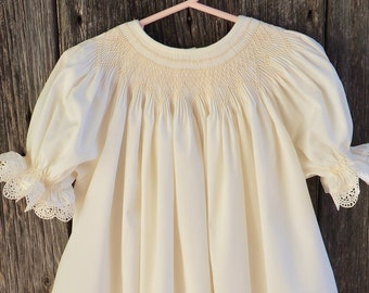 9ce672fb281 Heirloom Hand Smocked Bishop Dress Made to Order  Flower girl dress made to  order