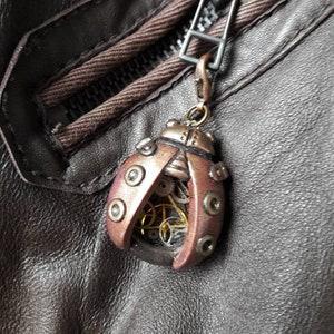 OOAK steampunk ladybird beetle rings beetle jewellery