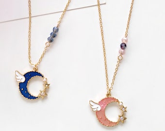 0f25eed92deed Sailor moon necklace | Etsy