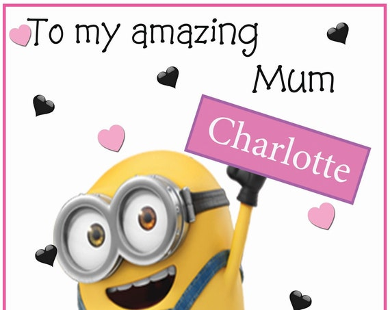 Personalised Minions Inspired Mothers Day Card