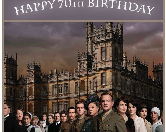Personalised Downton Abbey Theme Birthday Card