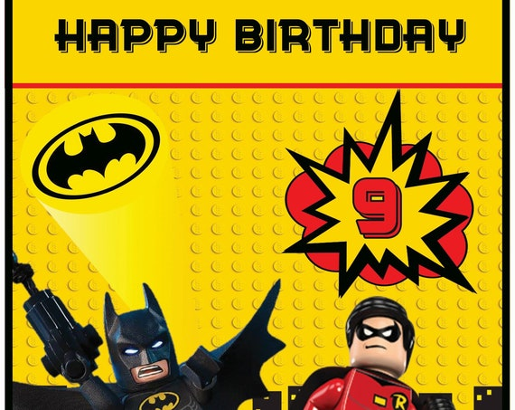 Personalised Batman Lego Inspired Birthday Card