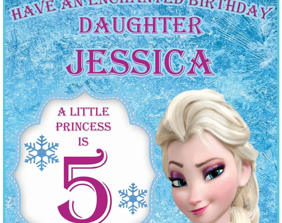 Personalised Frozen Birthday Card (5 Designs)