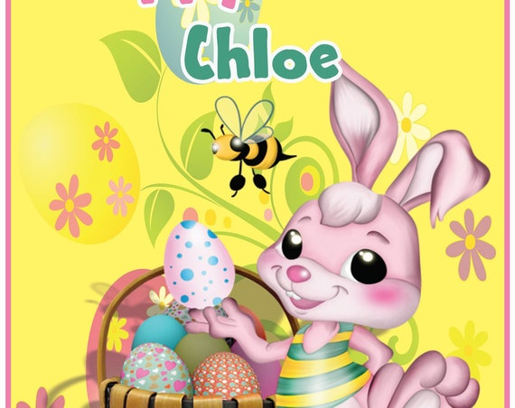 Personalised Easter Bunny Easter Card - Girl