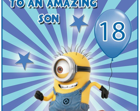 Personalised Minions Birthday Card (4 Designs)