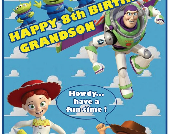 Personalised Toy Story Inspired Birthday Card