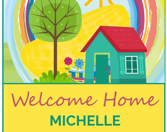 Personalised Welcome Home Greeting Card