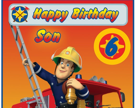 Personalised Fireman Sam Birthday Card