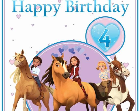 Personalised Spirit Riding Free Horse Birthday Card
