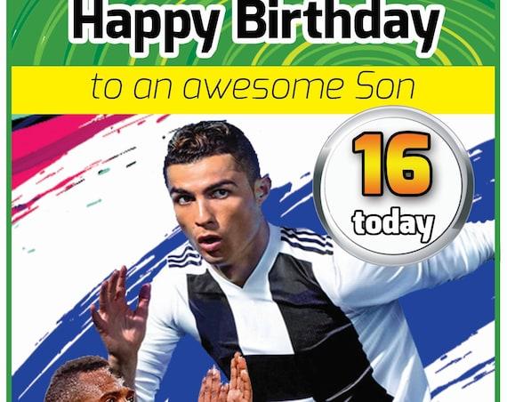 Personalised Fifa Birthday Card (2 Designs)