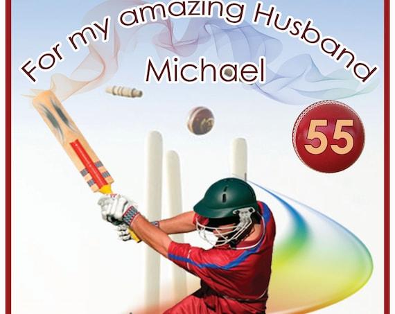 Personalised Cricket Birthday Card
