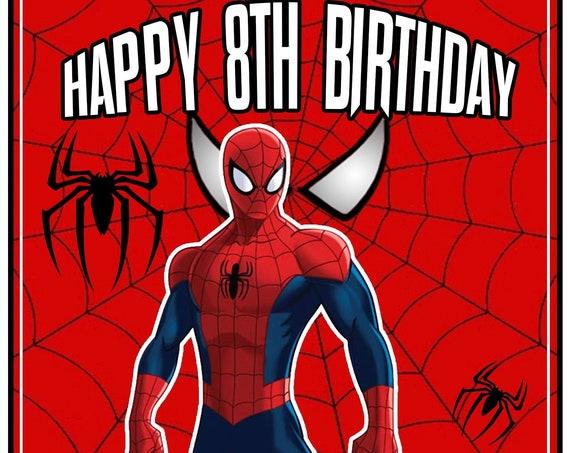 Personalised Heroic Spiderman Inspired Birthday Card