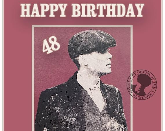 Personalised Peaky Blinders Inspired Birthday Card