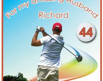 Personalised Golf Theme Birthday Card