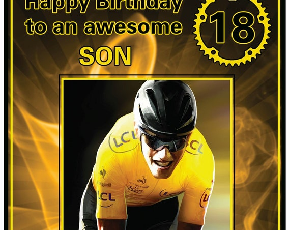 Personalised Cycling Theme Birthday Card