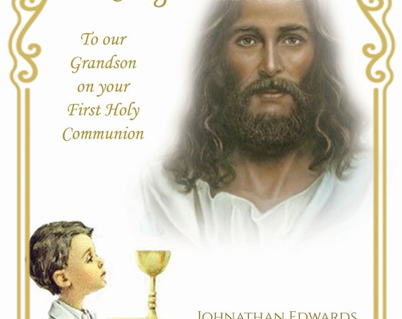 Personalised Holy Communion Card (2 Designs)