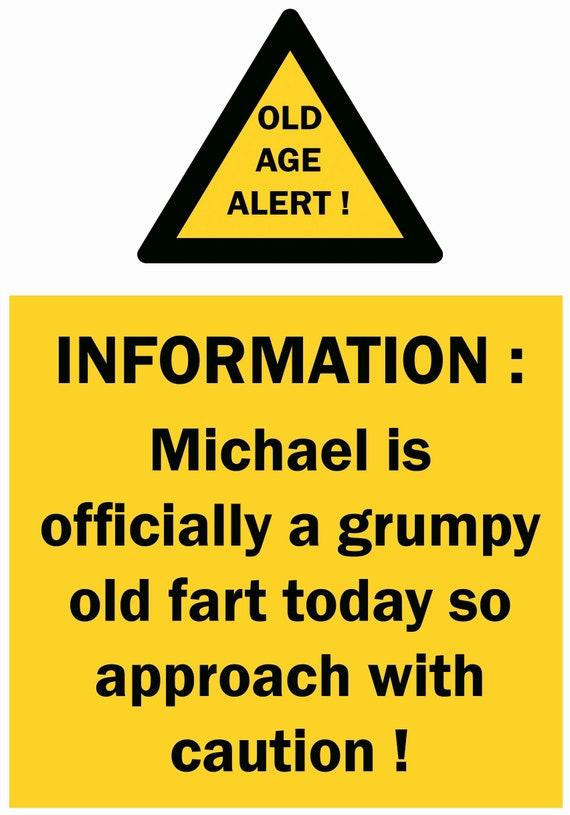 Personalised Grumpy Old Fart Birthday Card