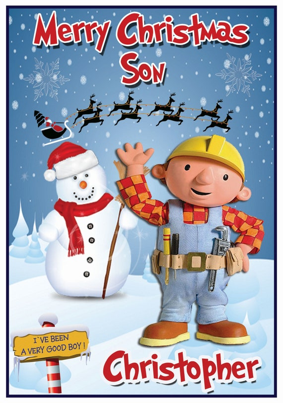 Personalised Bob The Builder Inspired Christmas Card - Lovely !