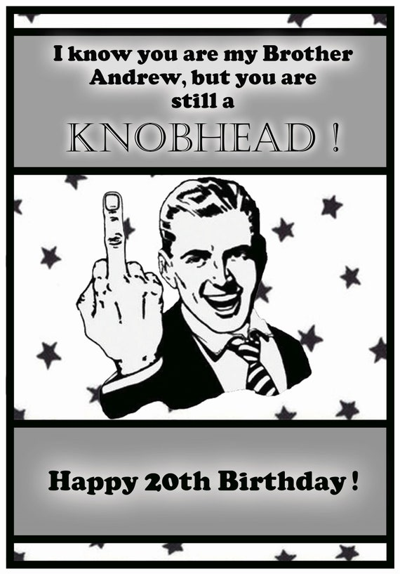 Personalised Finger Man Birthday Card