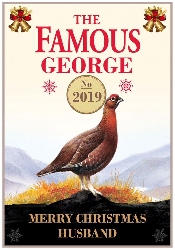 Personalised Famous Grouse Inspired Christmas Card - Lovely !
