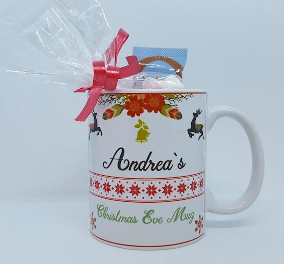 Personalised Traditional Theme Christmas Eve Mug