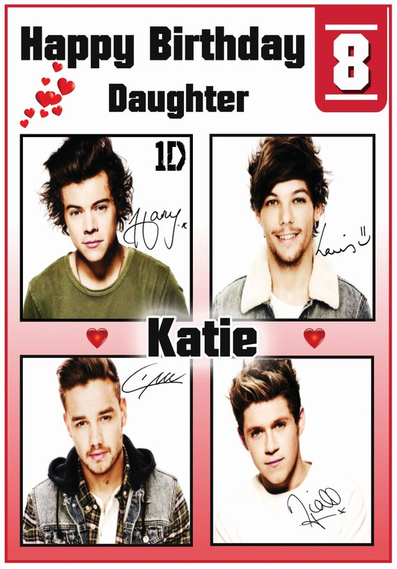 Personalised One Direction Birthday Cards (2 Designs)