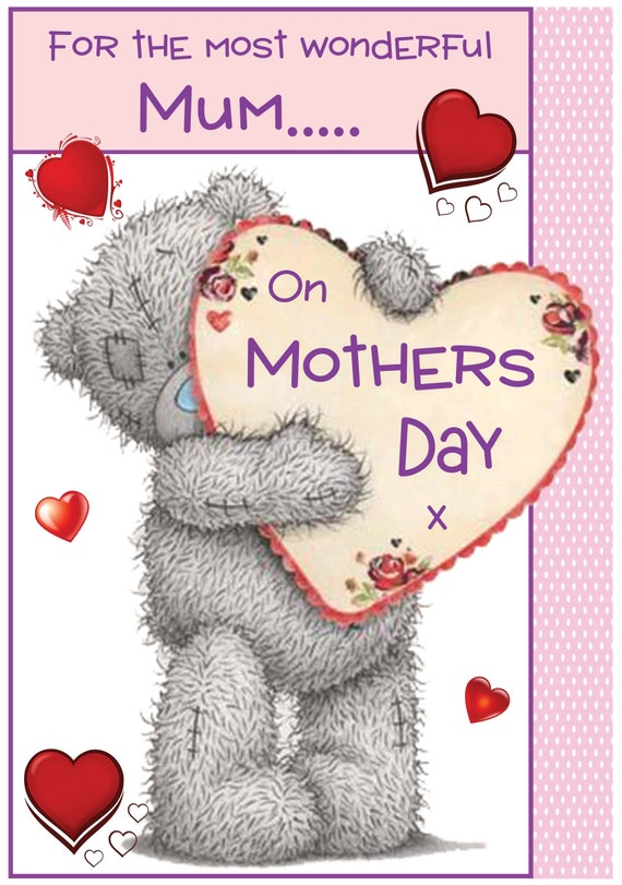 Tatty Teddy Inspired Mothers Day Card