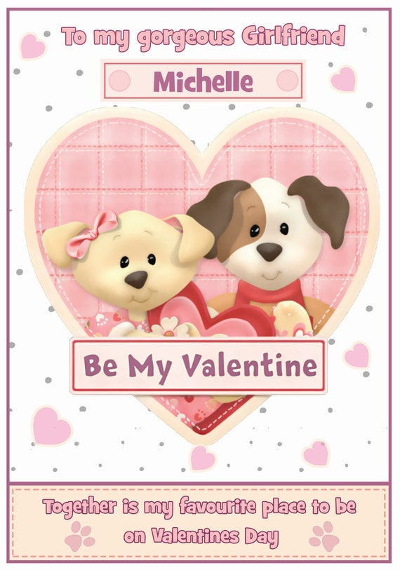 Personalised Cutest Pups Valentines Card