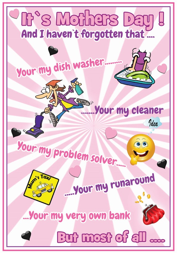 Busy Mum Theme Mothers Day Card