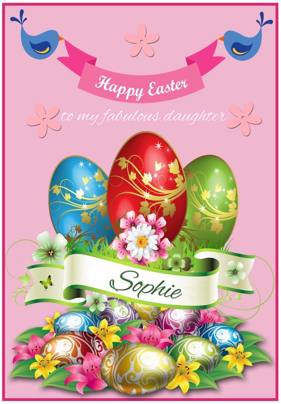 Personalised Egg Bouquet Easter Card