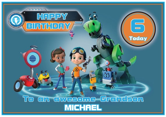 Personalised Rusty Rivets Inspired Birthday Card