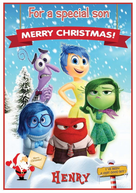 Personalised Inside Out Inspired Christmas Card (2 Designs) - Lovely !