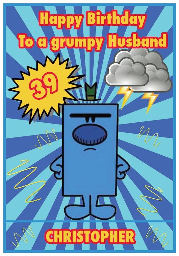 Personalised Mr Men Inspired Birthday Card (2 Designs)