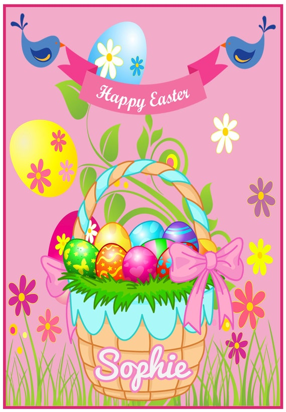 Personalised Egg Basket Easter Card