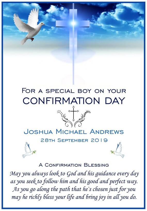 Personalised Confirmation Card (2 Designs)