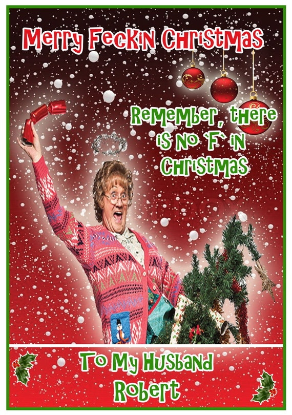 Personalised Mrs Browns Boys Inspired Christmas Card - Lovely !