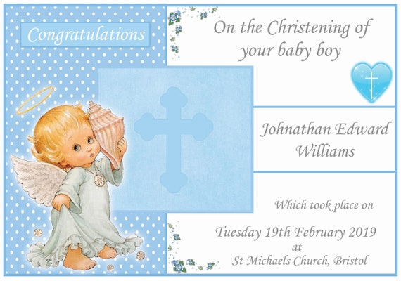 Personalised Cutest Cherub Christening Card (2 Designs)