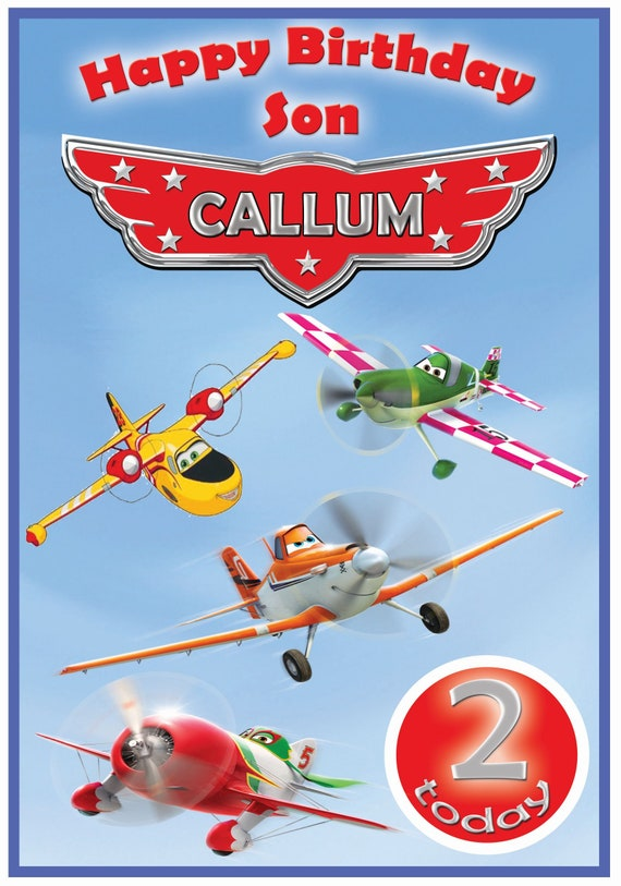 Personalised Disney Planes Inspired Birthday Card