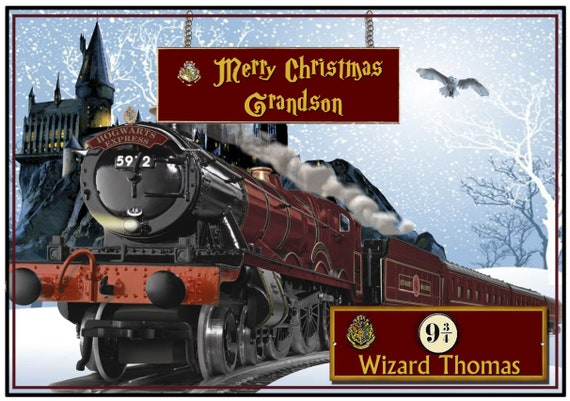 Personalised Harry Potter Hogwarts Express Christmas Card