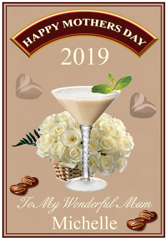 Personalised Baileys Theme Mothers Day Card