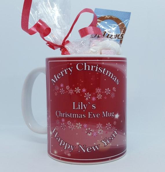 Personalised Dreamtime Unicorn Christmas Eve Mug