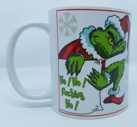 Personalised Grinch Christmas Mug