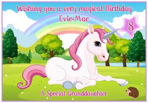 Personalised Cutest Little Unicorn Birthday Card