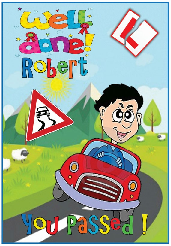Personalised and fun Driving Test Card (2 Designs)