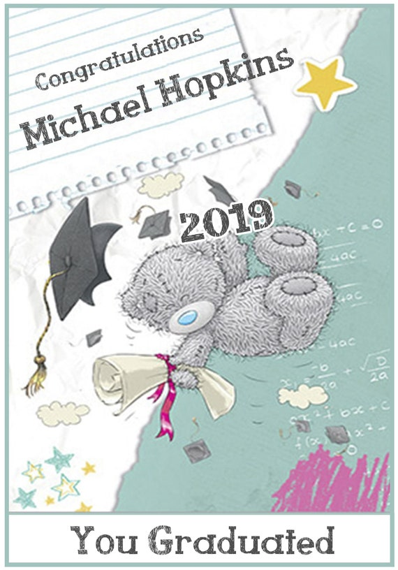 Personalised Me To You Inspired Graduation Card (Male or Female)
