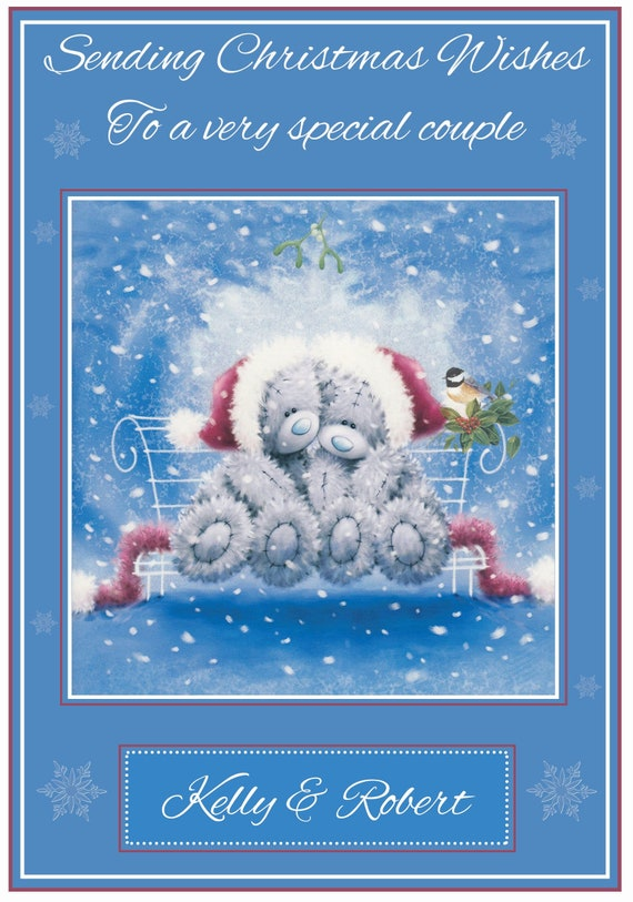 Personalised Tatty Teddy Inspired Christmas Card (2 Designs) - Lovely !