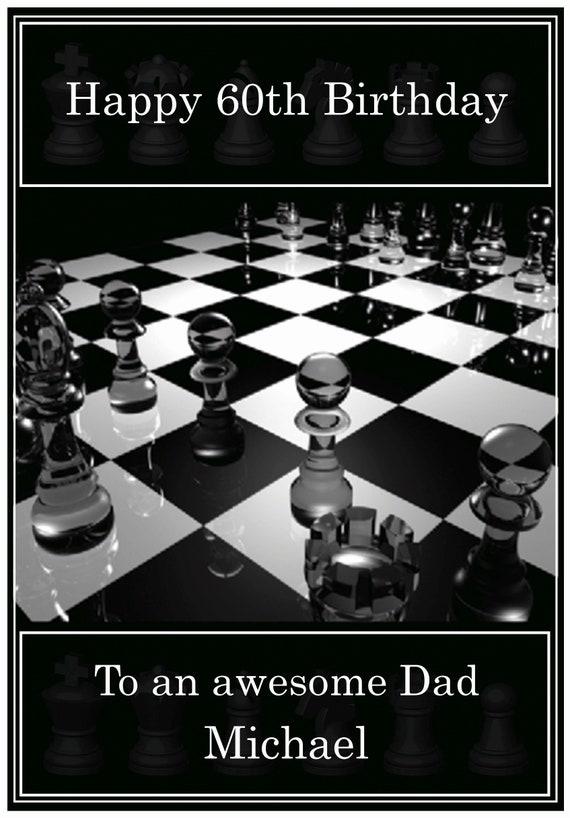 Personalised Chess Theme Birthday Card