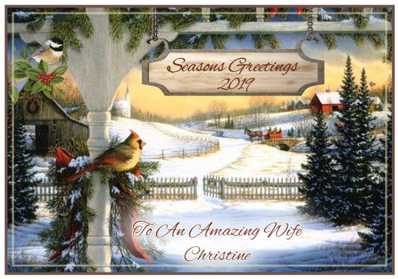 Personalised View From a balcony Christmas Card - Lovely !